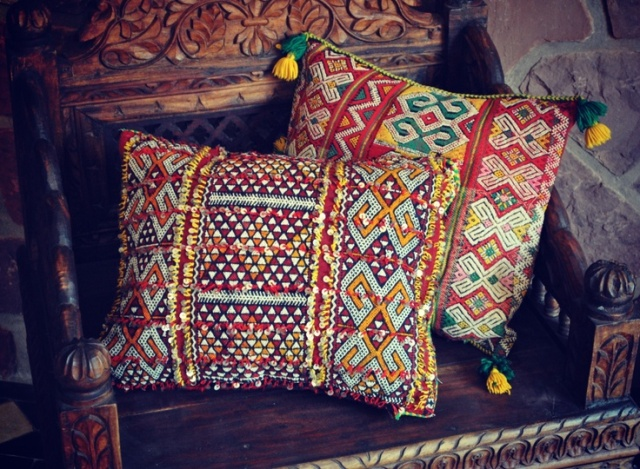 vintage berber kilim cushions